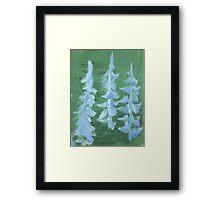 Impression Snowy PIne Trees Framed Print