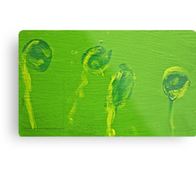 Impression Green Water Blossoms Metal Print