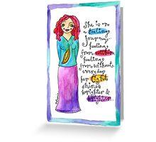 Healing Goddess Greeting Card