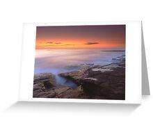 """A Silken Sea"" ∞ Merimbula, NSW - Australia Greeting Card"