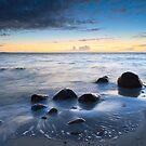 Winter sunset III by Steen Nielsen