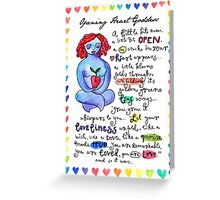 Opening Heart Goddess Greeting Card