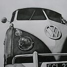 Split Screen VW Camper by samcannonart