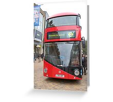 New London bus Prototype Greeting Card