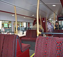 Downstairs inside the new London Prototype Bus by Keith Larby