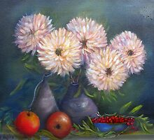 Still Life With Cherries by Loretta Luglio