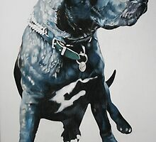 Staffie by samcannonart