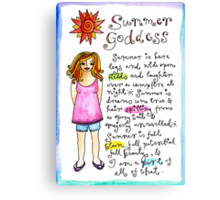 Summer Goddess Canvas Print