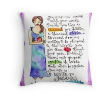 Writer Goddess Throw Pillow