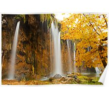 Waterfall in Plitvice Poster