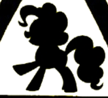 Caution twitchy tail black Sticker