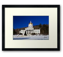 The People's House - Montpelier, Vermont Framed Print