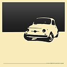 Fiat 500, 1959 - Black on cream by uncannydrive