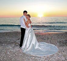 Beach Wedding Portrait by flutterbye216
