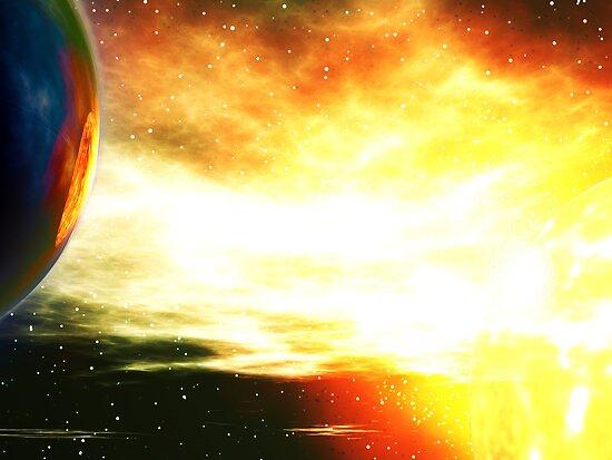 Stellar Collision 2000 by Hugh Fathers
