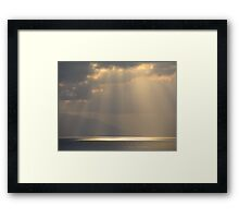 Late Afternoon with Clouds - Atardecer con Nubes Framed Print