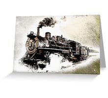 Vintage Steam Train Greeting Card
