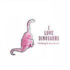 'I Love Dinosaurs' Logo by ILOVEDINOSAURS