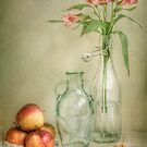 Apples and lillies by Mandy Disher