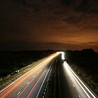 Long Exposure Highway at Night by honestyS2