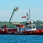 Fire Boat by Jeannie  Mazur