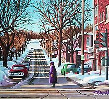 Westmount Street in Winter by Dan Wilcox