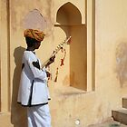 A local musician  by Ravi Kumar