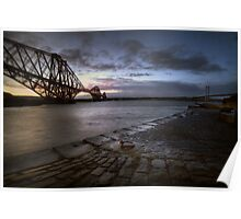 Forth Rail Bridge Sunrise Poster