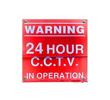 C.C.T.V in operation iPhone case (white) by John McGrath
