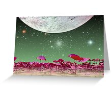 Alien World 1 Greeting Card