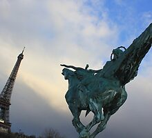 Don Quixote duels in Paris by BlackhawkRogue