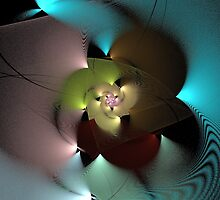 Spherical Disc - Abstract Flower by sstarlightss