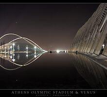 Athens Olympic Stadium & Venus by Yannis Hatzianastasiu
