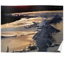 Unity Lake - Sunset on Ice  Poster