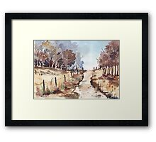 A Blank page... Framed Print