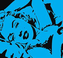 Marilyn Monroe - Cyan by axemangraphics