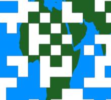 QR World Map Sticker