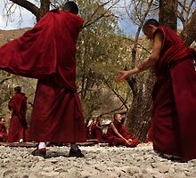 Sera Monastery - Debating the Buddist Scriptures 3 by Mark Bolton