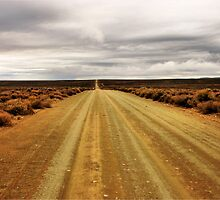 """I'm on the road to nowhere"" - Karoo - South Africa by Sandy Beaton"