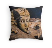 QUESTIONING THE SPHINX Throw Pillow