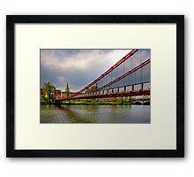 South Portland Street Suspension Bridge Framed Print