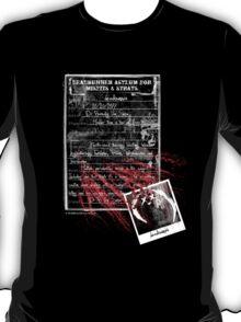deadbunny asylum - admittance form T-Shirt