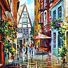 MORNING IN AMSTERDAM - LEONID AFREMOV by Leonid  Afremov