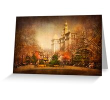 New York in Watercolour Greeting Card