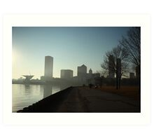 Milwaukee a city with a Harbor Art Print