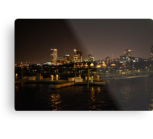 Milwaukee Night Skyline Metal Print