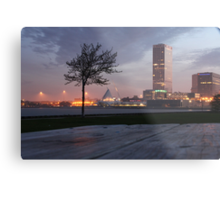 Milwaukee Night Cityscape Metal Print
