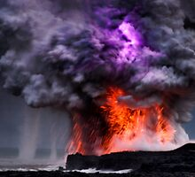 Kilauea Volcano at Kalapana 5 by Alex Preiss