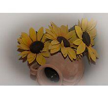 Sunflowers in Cortona, Tuscany, Italy Photographic Print