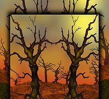 Cornucopia Fantasy Tree Illustration i pod and i phone case by Grant Wilson